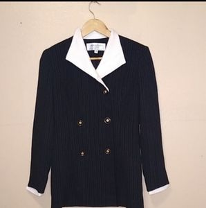 Madrigano suits black and white size 4